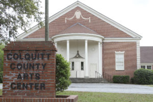 Pictured is part of the building that was once the Moultrie High School, but now the Colquitt County Arts Center. It underwent a renovation with McCall as the lead architect in 1984.